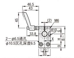 30度梯形丝杆支座组件带防转动固定件