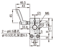30度梯形丝杆支座组件小显示器用