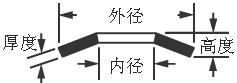 球轴承用蝶形弹簧尺寸图